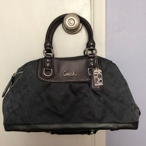 Coach Signature Logo Large Satchel in Gray